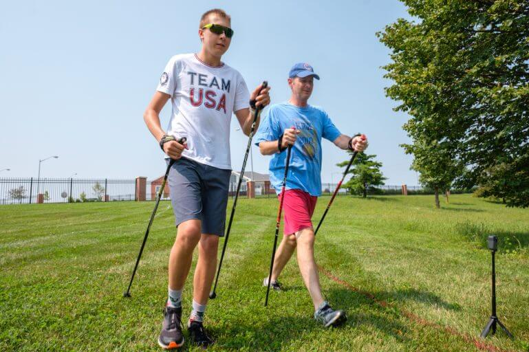 Brain Injury Rehab patient hiking